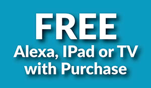 Free for all flooring event!  Get a free Alexa, iPad or TV with purchase!
